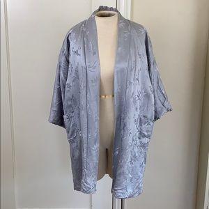 Vintage silk Hong Kong floral robe
